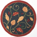Round Fall Rug
