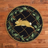 Running Rabbit Rug