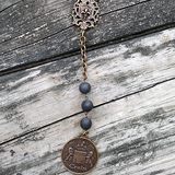 Sandblast Black Jasper Necklace