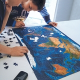 Satellite World Map Interactive Puzzle