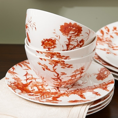 Sienna Toile Tale Bowl