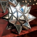 Small Silvered Glass Star