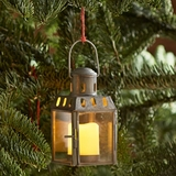 Square Lantern Ornaments  Set of 6