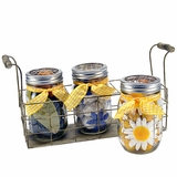 Summer Flowers Mason Jar Trio Potpourri