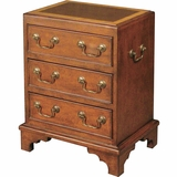 Three-Drawer Mahogany Chest