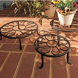 Three Round Plant Stands