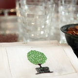 Topiary Cocktail Napkins (Set of four)