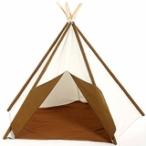 Traditional 7� Cotton Canvas Teepee Tent