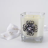 White Cashmere Glass Votive