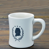 White Jefferson Silhouette Mug