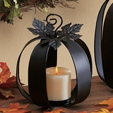 Wide Pumpkin Candle Lantern