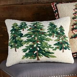 Woodland Multi Pine Trees Pillow