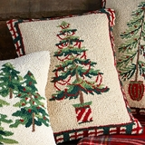 Woodland Pine Tree with Garland Pillow