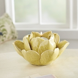 Yellow Lotus Tealight Holder