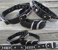 Bike Chain Leather Dog Collar