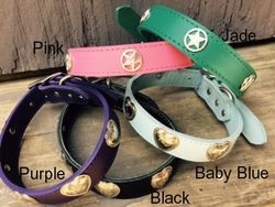 Western Hearts or Lone Star Leather Dog Collars