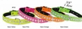 Neon Frabic Dog Collars 3/8 inch