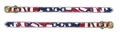USA Stars And Stripes 1/2 Wide Dog Collar