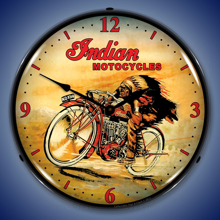 Vintage Motorcycle Wall Clocks Lighted Motorcycle Clocks