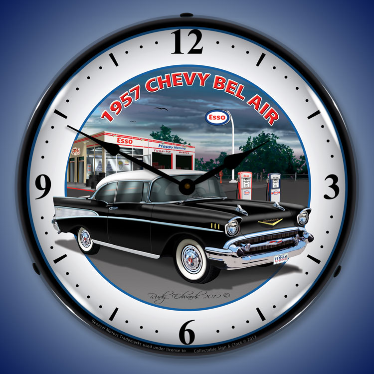1950s Chevy Bel Air Wall Clocks Lighted 1950 1959 1957