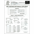 1964½ Mustang Shop Manual Supplement