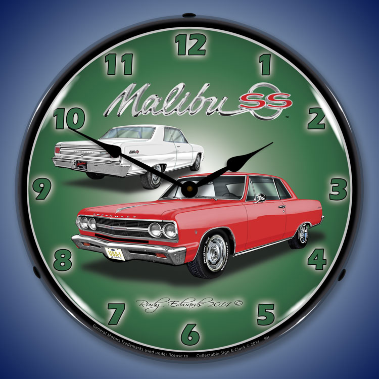 Chevy Chevelle Wall Clocks, Lighted: 1965-1971, Super