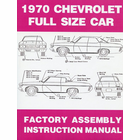 1970 Chevrolet Full Size Car Factory Assembly Instruction Manual