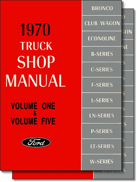 Ford truck factory shop manual 1970 models factory service