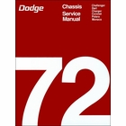 1972 Dodge Challenger, Dart, Charger, Coronet, Polara, Monaco Chassis Service Manual