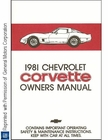 1981 Chevrolet Corvette Owner's Manual