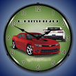 2014 SS Camaro Red Rock Wall Clock, Lighted