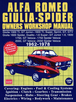 Alfa Romeo Giulia Spider Repair amp Service Manual 1962 1978