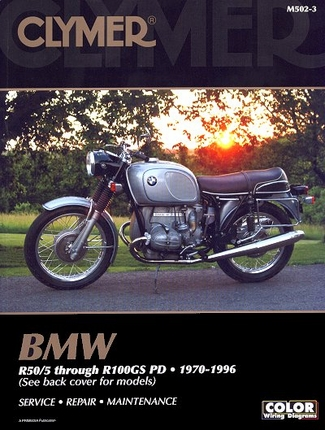 BMW R50, R60, R65, R75, R80, R90, R100, R100GS PD Repair Manual 1970-1996