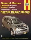 Chevrolet Equinox, Pontiac Torrent Repair Manual 2005-2012