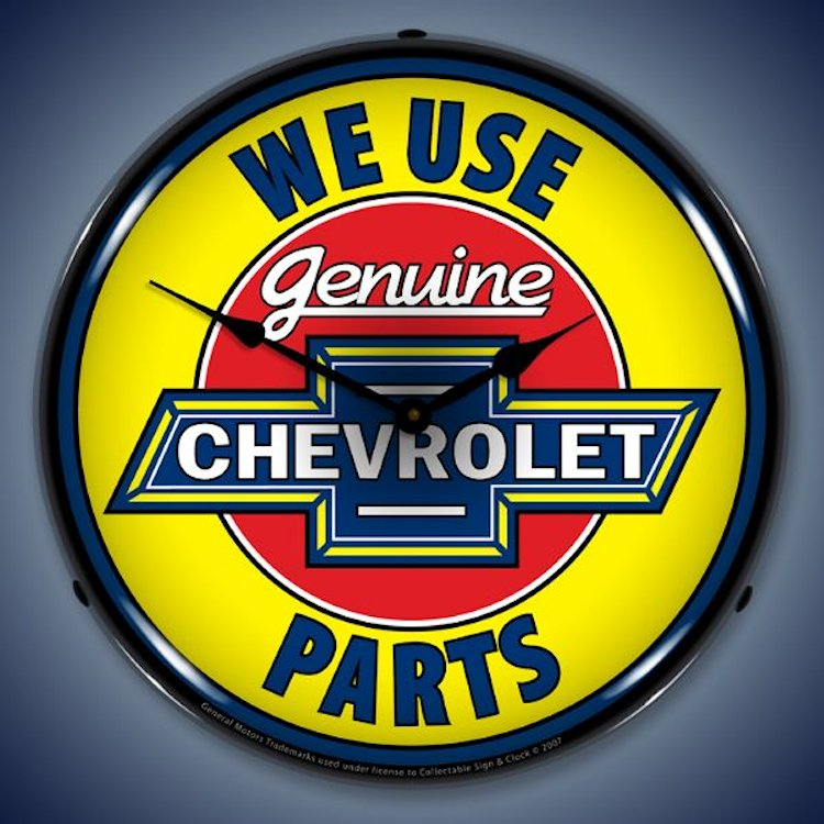 Chevrolet Genuine Parts Wall Clock, Lighted