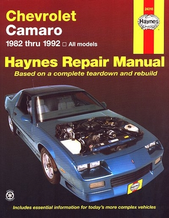 camaro 1982 1992 haynes repair manual coupe berlinetta