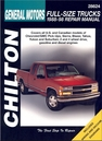 Chevy, GMC Pick-ups Repair Manual 1988-1998