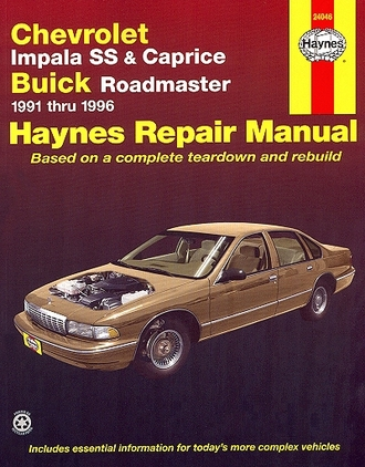 Chevy Impala SS, Caprice, Buick Roadmaster Repair Manual 1991-1996