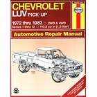 Chevy LUV 1.8L Pick-up Truck Repair Manual 1972-1982