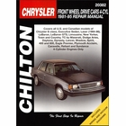Chrysler, Dodge, Eagle, Plymouth Repair Manual FWD 4-Cylinder Cars 1981-1995