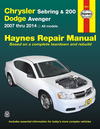 Chrysler Sebring & 200, Dodge Avenger Repair Manual 2007-2014