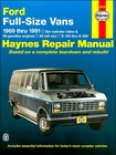 Ford Econoline E-100 thru E-350 Repair Manual 1969-1991