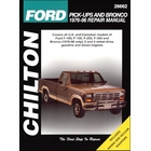 Ford F-100, F-150, F-250, F-350, Bronco Repair Manual 1976-1986