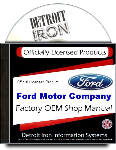 Ford Truck Factory Service Manuals 1909-1989 on CD-ROM