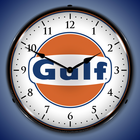 Gulf Oil Wall Clocks, Lighted