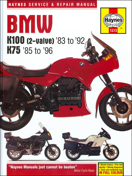 bmw k75 k100 k100rs k100lt repair manual 1983 1996 haynes 1373