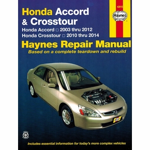 Honda Accord and Crosstour Haynes Repair Manual 2003-2014