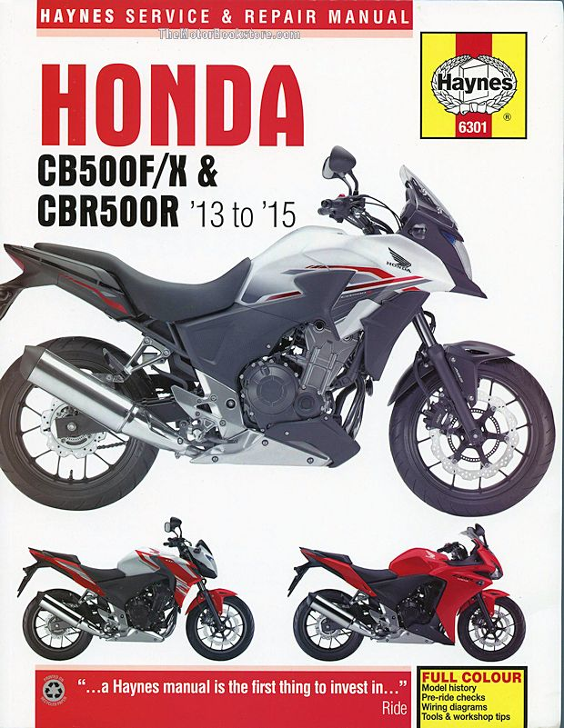 Honda CB500F/X & CBR500R Repair Manual: 2013-2015