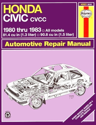 Honda Civic CVCC Repair Manual 1980-1983
