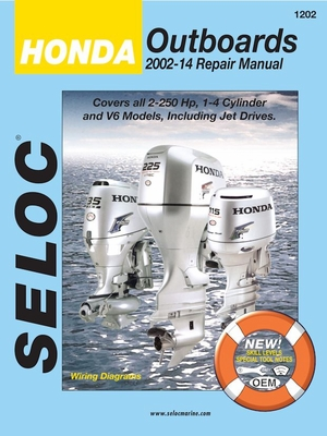 Honda Outboards 2002-2014 2.0-225 HP, 1-4 Cylinder and V6 Models, Including Jet Drives
